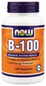 Picture of NOW Vitamin B-100 - 100 Caps
